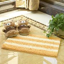 microfiber polyester chenille living room bedroom mats anti slip stripe comfortable bathroom bath mats super water absorbing rug