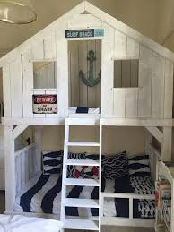 House Bunk Bed Surf Shack Bunk Bed Using Club House Bed Plans Do It Yourself