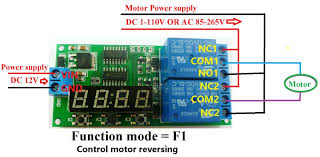 dc 12v 9 function delay relay controller motor reverse cyclic 2 live wire and netural wire control circuit power supply is dc 12v wiring diagram below load be ac 85 265v equipment