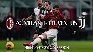 Highlights | AC Milan 1-1 Juventus | Semi-final first leg | Coppa Italia  2019/20 - YouTube