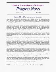Newsletter Cover Letter Fearsome Physical Therapy Progress Note Template Ideas