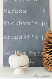 diy faux driftwood deer antlers pumpkin patch chalkboard sign city farmhouse