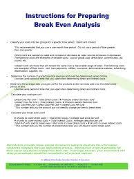 How To Prepare Break Even Chart 2019 Break Even Analysis Template Fillable Printable Pdf