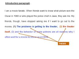 my favorite movies paragraph essay