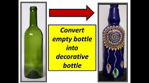 DIY |decorate empty bottle with mandala dot art | dreamcatcher mandala| painted  bottle