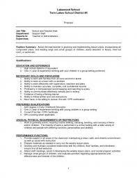 Sample Resume Teachers Aide Assistant Cover Letter Teacher Sap