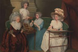 the secrets of getting dressed as an th century w mental floss lady jane mathew and her daughters unknown artist 1790 nbsp courtesy the