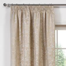 blenheim gold jacquard luxury lined pencil pleat curtains pair julian charles