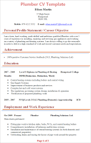 Sample Plumber Resume Best of Plumber CV Template Tips And Download CV Plaza