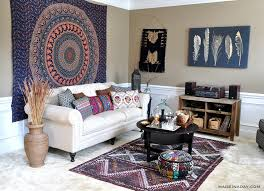 images boho living hippie boho room. Boho-living-room-makeover-hippie-pad-style-madeinaday- Images Boho Living Hippie Room R