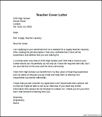 Teacher Resume Cover Letter Examples Wlcolombia