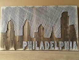 Philadelphia Skyline String Art