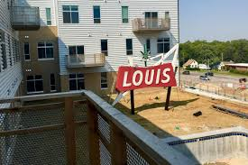 Benson Lights Apartments Omaha Ne Iconic Louis Market Sign Has A New Home At Recently