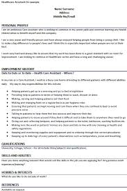Cv Template For Care Assistant Healthcare Assistant Cv Example Learnist Org