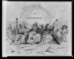 weblinks the progressive era 1895 the apotheosis of suffrage political cartoon on women s suffrage