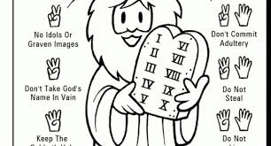 Small Picture moses the ten commandments coloring page Archives Cool Coloring