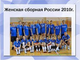 Презентация по физкультуре на тему quot История развития игры  Женская сборная России 2010г