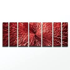 red metal wall art cosmic energy red large red candy paint modern abstract metal wall art  on red metal wall art bed bath and beyond with red metal wall art modern lines metal wall art decor metallic red x