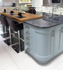 Kitchen Furniture Uk Contemporary Kitchen Island Design In Blue With Curved Units