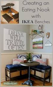 creating an eating nook booth with ikea benches ikea hack diy makeover kitchen eclectic boho chic