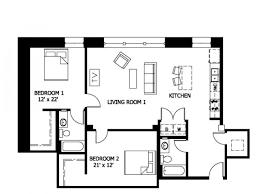 Elegant For The 2 Bedroom/2 Bathroom Lofts (Affordable Income) Floor Plan.