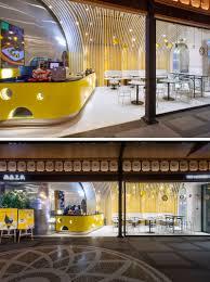 1221 Design Modern Yellow And White Cafe Interior Design 120619 1221 05