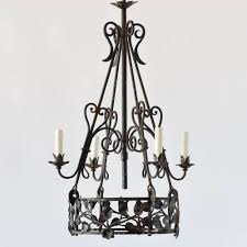 iron art nouveau chandelier