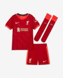 Liverpool FC 2021/22 Home Fußballtrikot-Set für jüngere Kinder. Nike DE