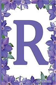 Lined Pages For Writing Mesmerizing Monogram Journal Initial R Purple Flower 48 X 48 Monogram