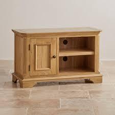 Small Tv Cabinets Edinburgh Natural Solid Oak Small Tv Cabinet By Oak Furniture Land