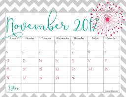 free 2017 printable calendar november free calendar and