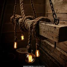 view bench rope lighting. Wood Beam Light - Barn Pendant -Manila Rope Rustic Chandelier Industrial Lighting View Bench E