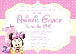 baby mickey mouse invitations birthday minnie birthday invitations owensforohio info