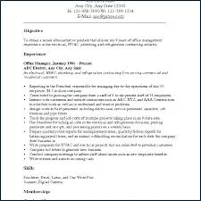 A Sample Of Resume For Job Career Objective Samples For Resume ...