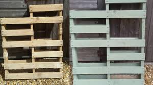 use a saw to change the pallet shape and paint if wanted