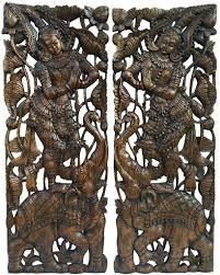 thai wood carving wall art