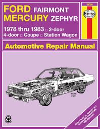 ford fairmont mercury zephyr 78 83 haynes repair manual enlarge ford fairmont