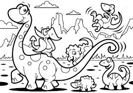 Preschool Coloring Pages Dwcp Printable Dinosaur Book Imposing