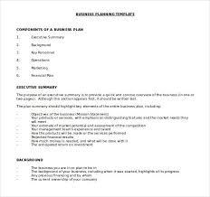executive business plan template business plan word template template