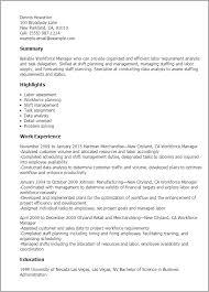 Resume Templates: Workforce Manager