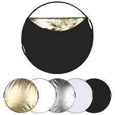 puluz pu5111 60cm 5 in 1 folding photo studio reflector board silver translucent gold white black cod