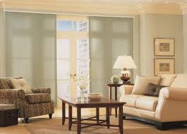 door sliding curtains for the living room equipped with 2 small table in the middle