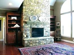 dry stack fireplace stone stacked ideas awesome rock tile surround outdoor