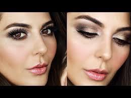 eye golden brown smokey eye makeup tutorial 2017