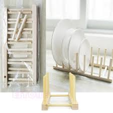 Wooden Display Stands For Plates 100 New New Wooden Drainer Plate Stand Wood Dish Rack 100 Pots Cups 31