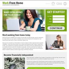 Responsive Work From Home Landing Page Design Templates To Earn Amazing Work From Home Web Design
