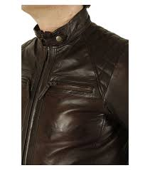 men coat simons leather mens brown leather biker jacket with quilting detail 7pldfidj4