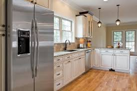 Beautiful Kitchen Design White Cabinets Stainless Appliances