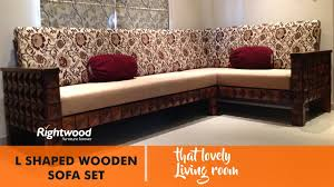 wooden sofa set designs. SOFA SET DESIGNS L SHAPED WOODEN (NEW DESIGN) DIAMOND BY RIGHTWOOD FURNITURE. Living Room Decoration - YouTube Wooden Sofa Set Designs R