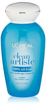 l oréal paris clean artiste oil free eye makeup remover